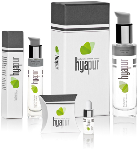 Hyaluronsäure ist wichtig  – und ich lege mal los mit dem Test: #hyapur®-Hyaluronic Intense Serum