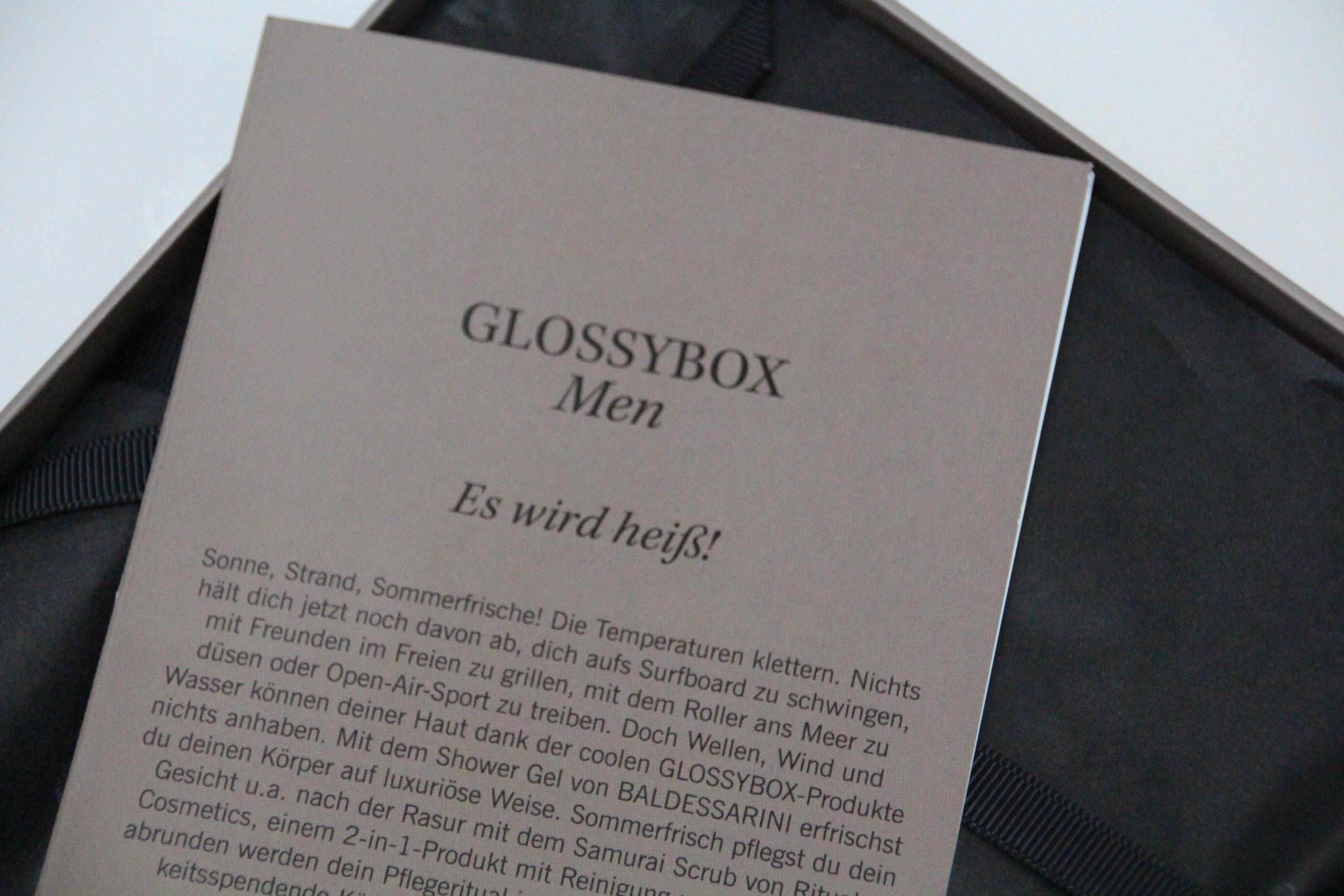 ausgepackt: die Glossybox Men in der Sommeredition