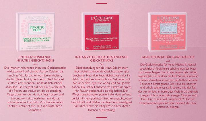 L'OCCITANE-Pflegelinie-Pivoine-Sublime-Gesichtsmasken-das-leben-ist-schoen