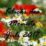 Klicks des Monats Juli 2017 | u. a. mit Werbung in der Bloggerszene