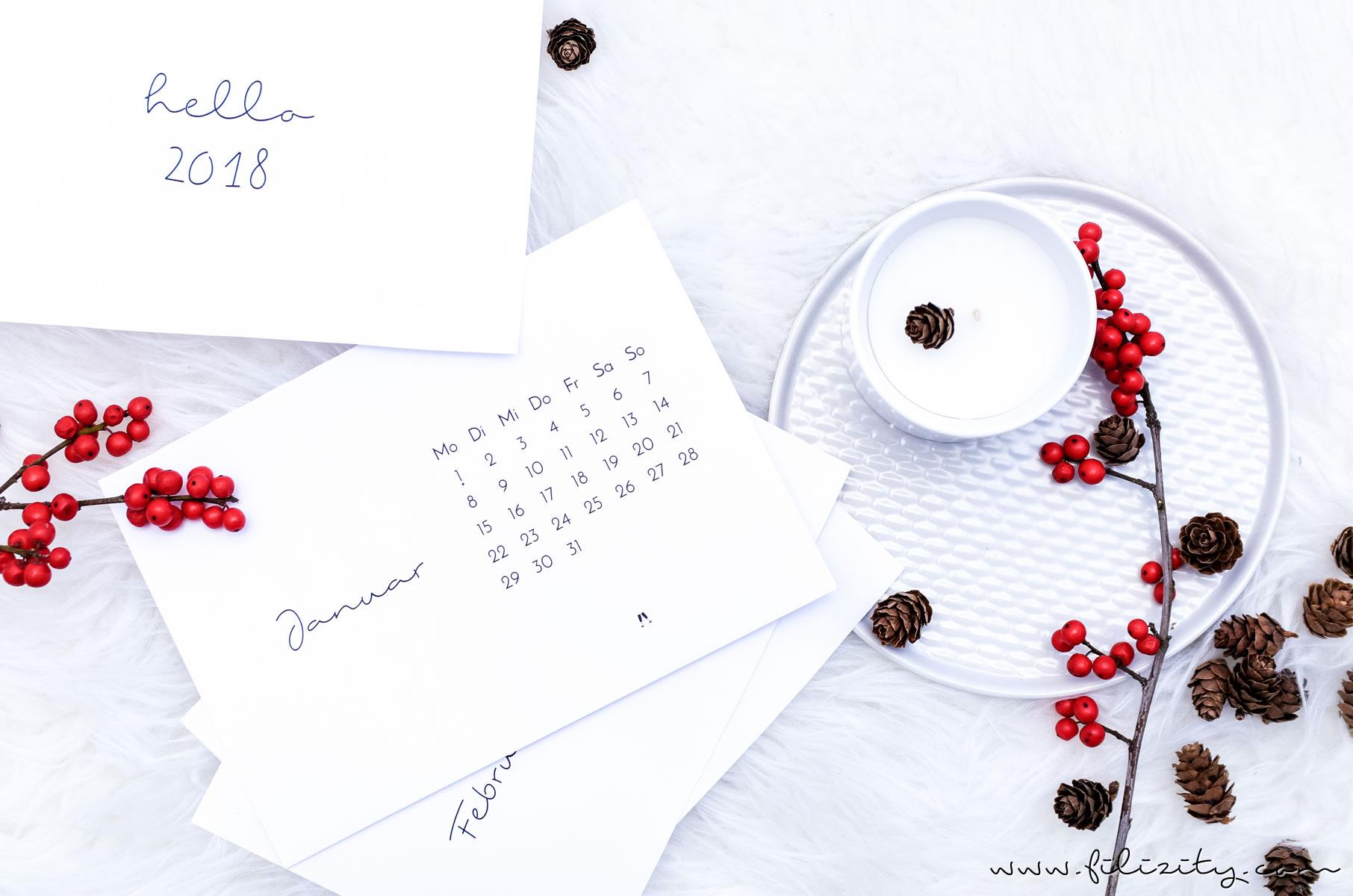 free printable Kalender 2018   eine kleine Auswahl für jeden