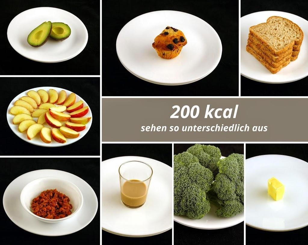 200 kcal können so unterschiedlich aussehen