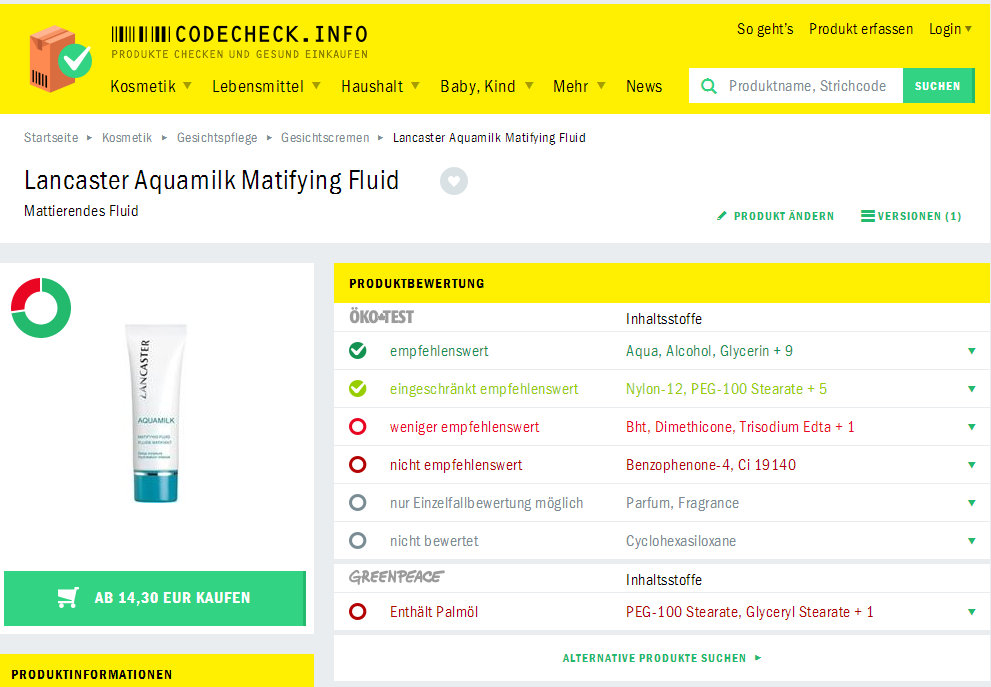 Abfrage: Codecheck.info