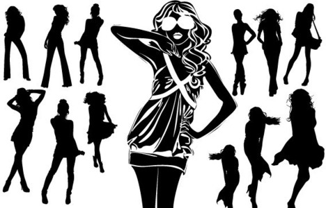 silhouettes-of-beautiful-women-in-vector-format_p