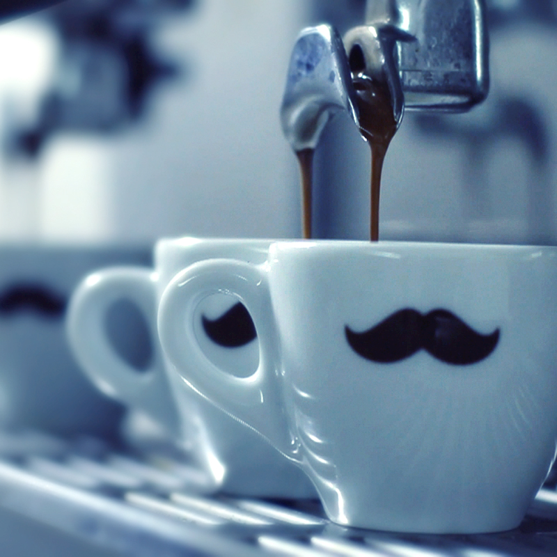 Kaffee mit Bart