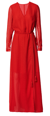 Weihnachtsaktion_H&M_Katy Perry_rotes Kleid