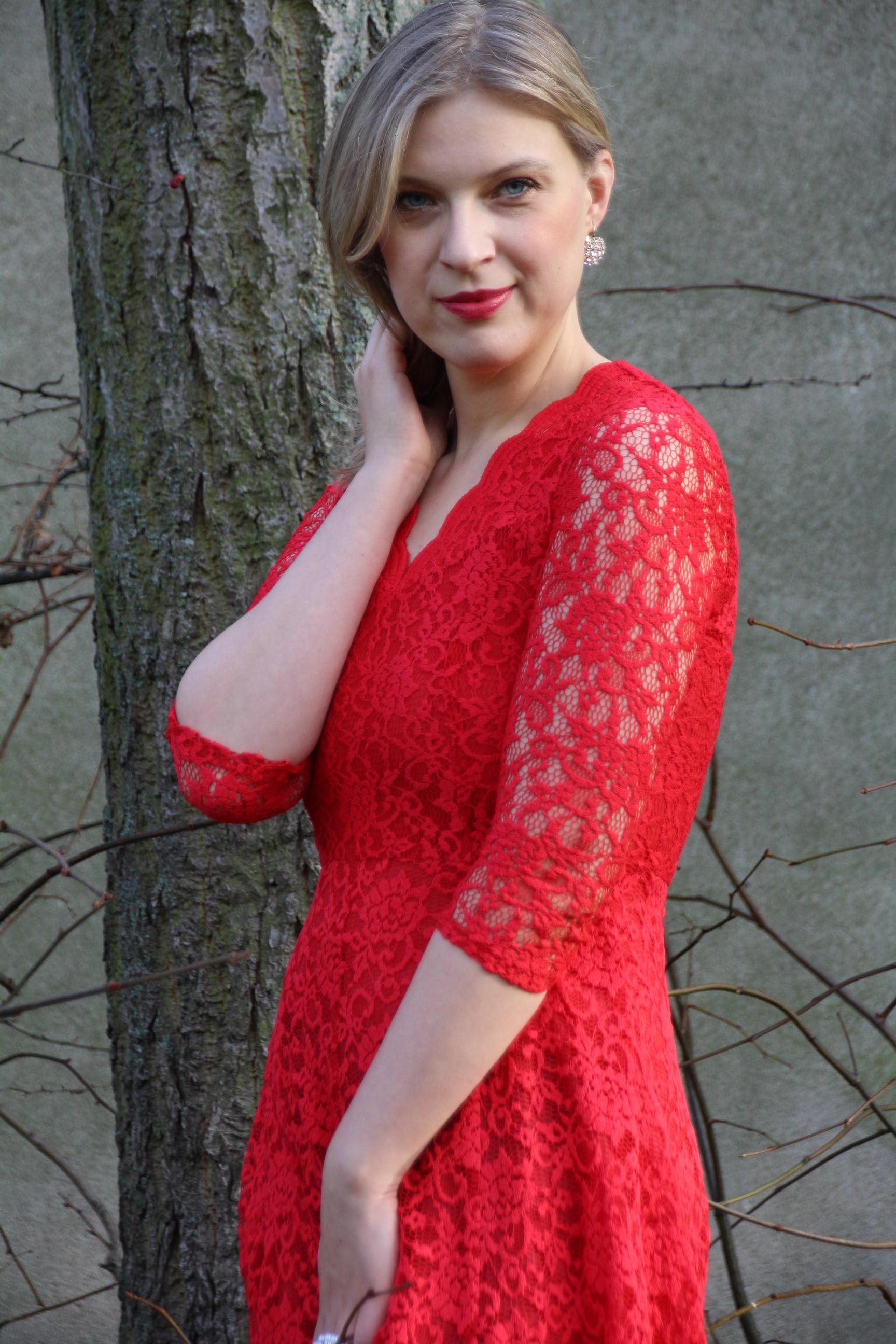 Weihnachten_rotes Kleid
