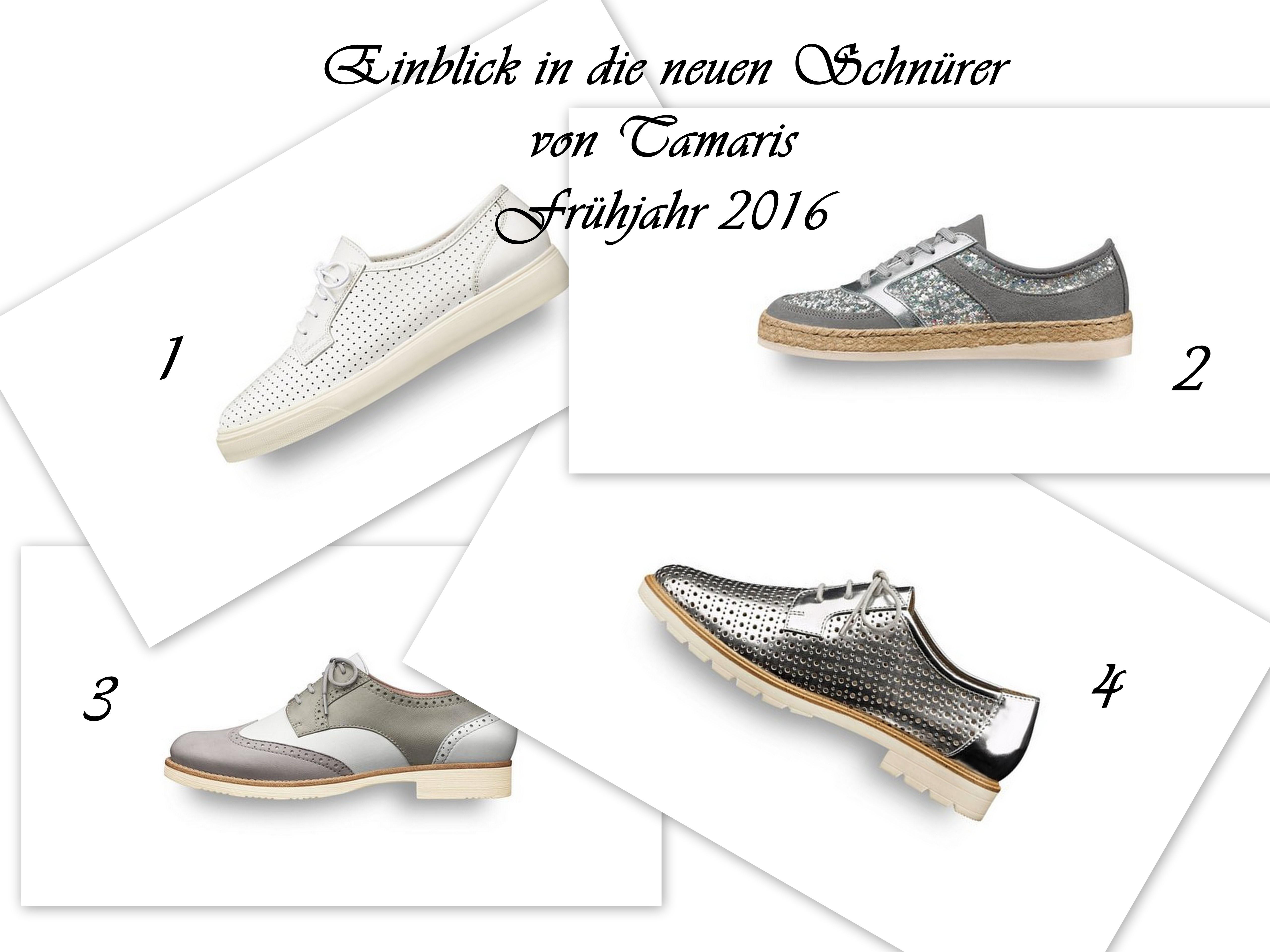 Tamaris Frühjahr-Sommer 2016: Neues bei Sneakern und Schnürern
