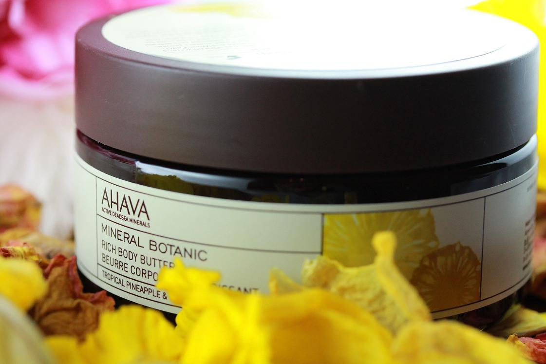AHAVA: MINERAL BOTANIC RICH BODY BUTTER TROPICAL PINEAPPLE & WHITE PEACH