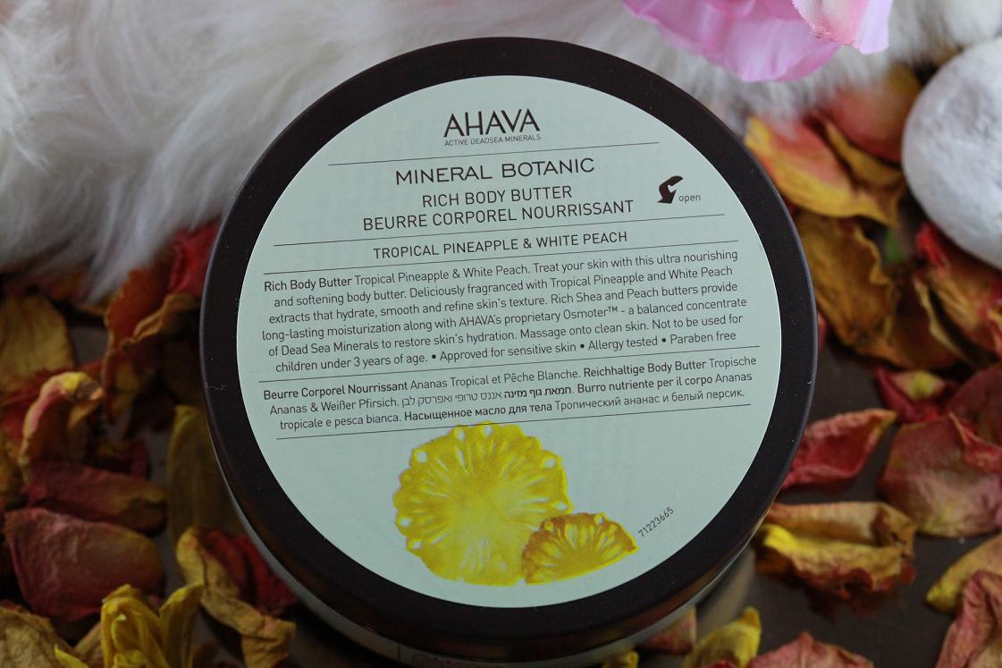 Das Leben ist schön_AHAVA_Mineral Botanic Body Butter_Annanas_weißer Pfirsisch