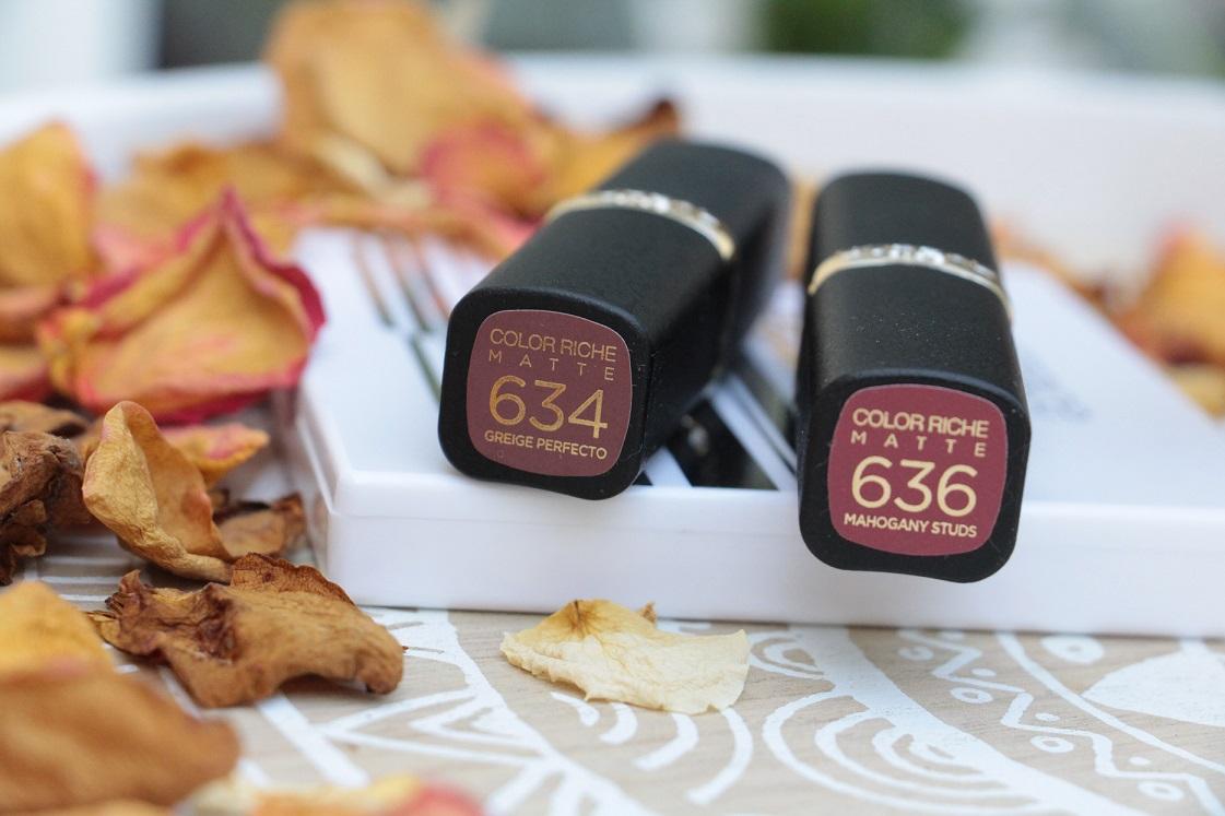 L'Orèal-Color Riche-Matte-Addiction-Lippenstifte-Brauntöne--das-leben-ist-schoen