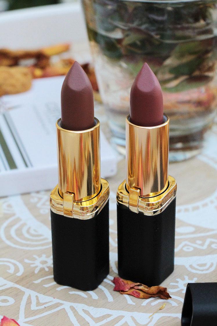 L'Orèal-Color Riche-Matte-Addiction-Lippenstifte-Brauntöne-offen-das-leben-ist-schoen