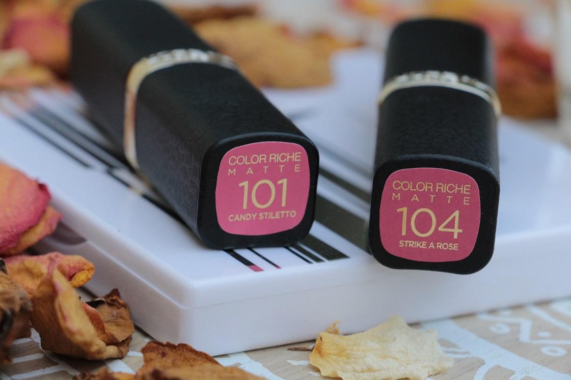 L'Orèal-Color Riche-Matte-Addiction-Lippenstifte-Pinktöne-liegend-das-leben-ist-schoen