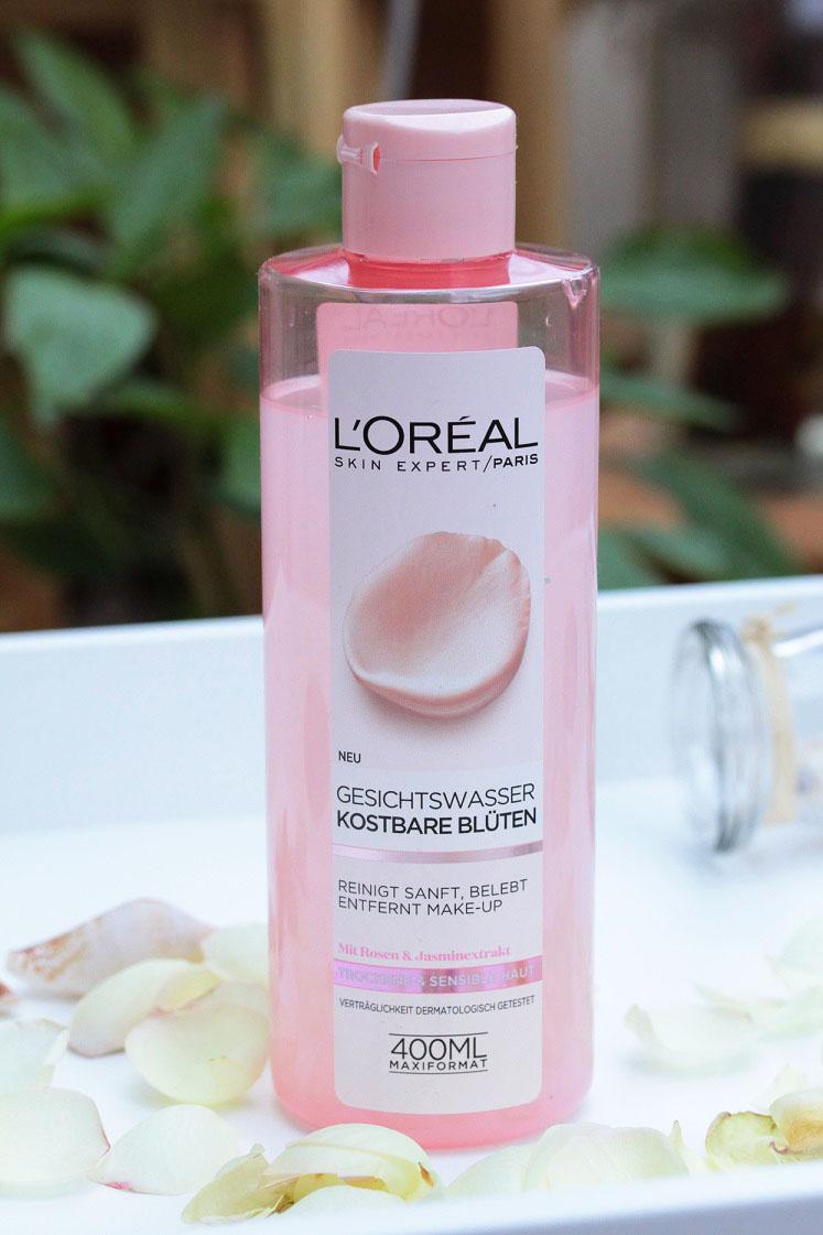 L'Oréal-kostbare-blüten-reinigungsserie-gesichtswasser-das-leben-ist-schoen