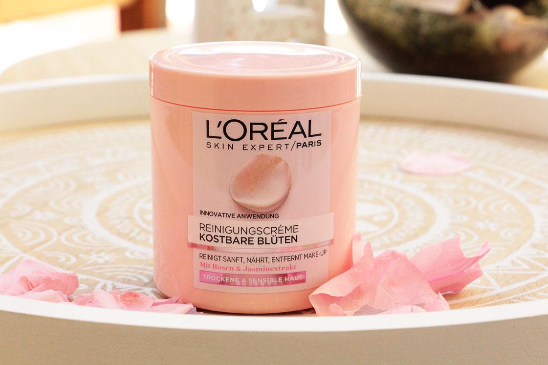 L'Oréal-kostbare-blüten-reinigungsserie-reinigungsreme-das-leben-ist-schoen