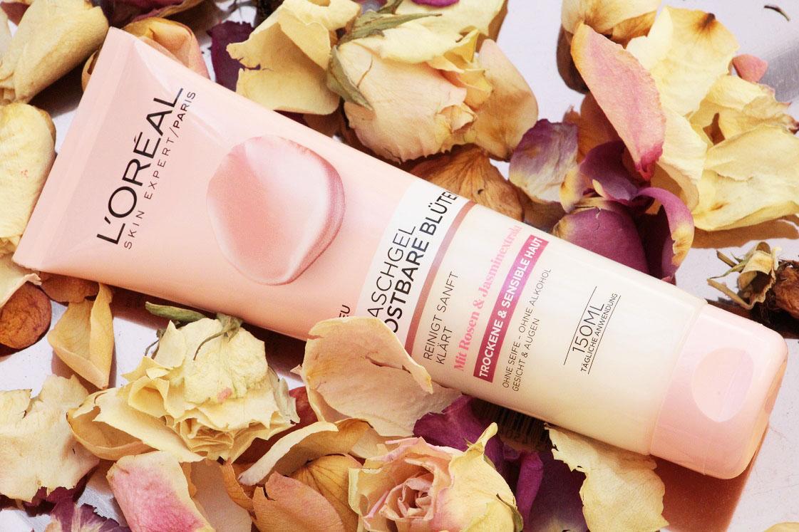 L'Oréal-kostbare-blüten-reinigungsserie-waschgel-das-leben-ist-schoen