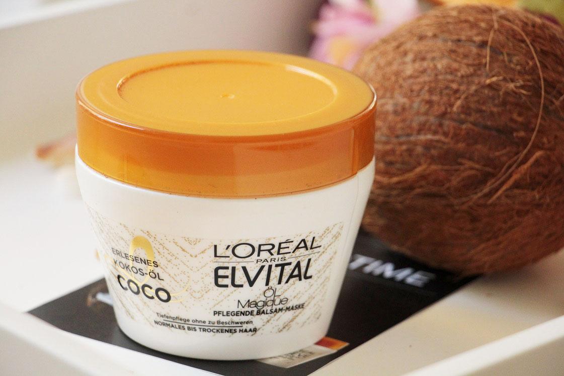 L'Oréal-Paris-Elvital-Öl-Magique-Coco-Pflegeserie-pflegende-Balsammaske-das-leben-ist-schoen
