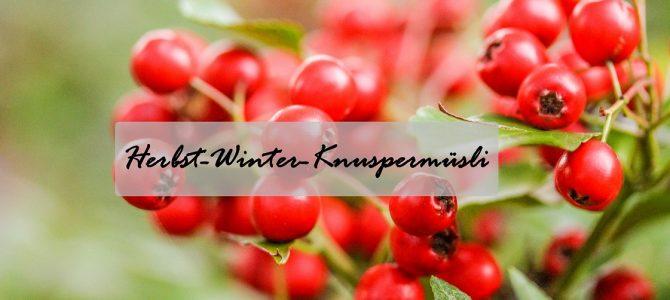 Herbst-Winter-Knuspermüsli: zum selbst vernaschen oder zum verschenken