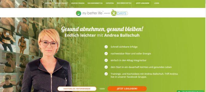 X-Days – das Ernährungsprogramm mit Andrea Ballschuh